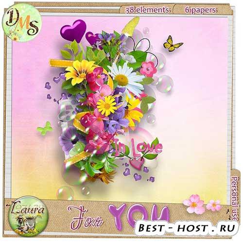 Красочный цветочный скрап-набор - Для тебя