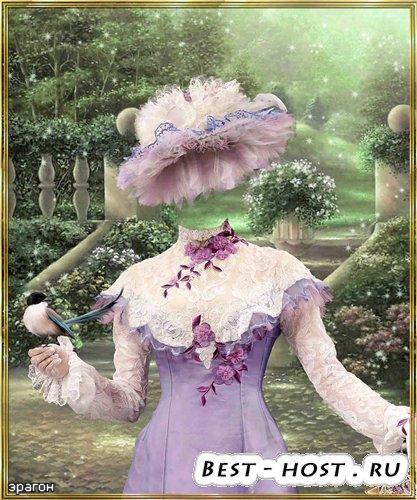 Женский шаблон для фотошопа – Благородная дама