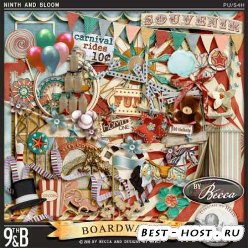 Интересный винтажно-цирковой скрап-набор - Цирковой помост