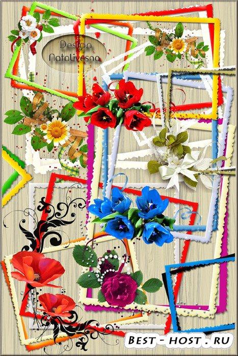 Рамки – вырезы с цветами /  – cuts with flowers