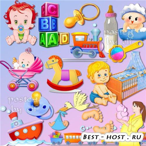 Детский PNG клипарт - Весёлый карапуз