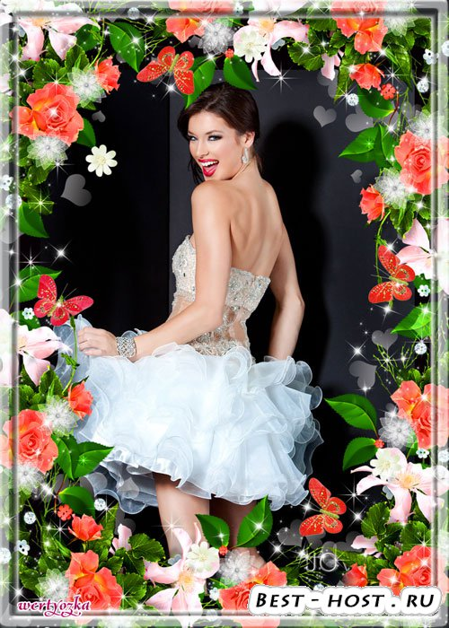 Цветочная рамка для фото - Удивительные чайные розы
