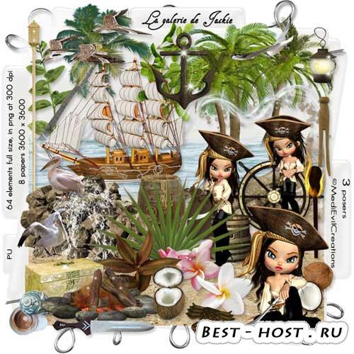 Морской скрап-набор - На острове сокровищ