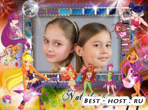 Рамка для фото девочки - Энчантикс, магия смелых Винкс