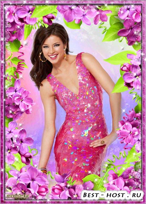 Цветочная рамка для фото - Прекрасные цветы сирени так манят ароматом сладк ...