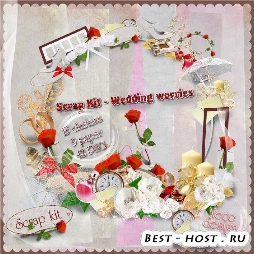 Скрап-набор - Wedding worries
