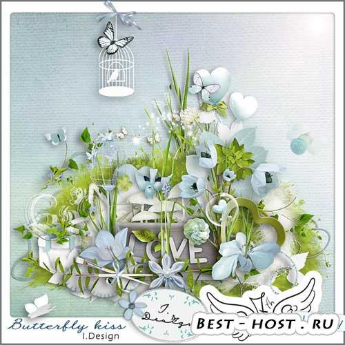 Очаровательный скрап-набор - Поцелуй бабочки