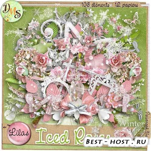 Цветочный скрап-набор - Замерзающие розы