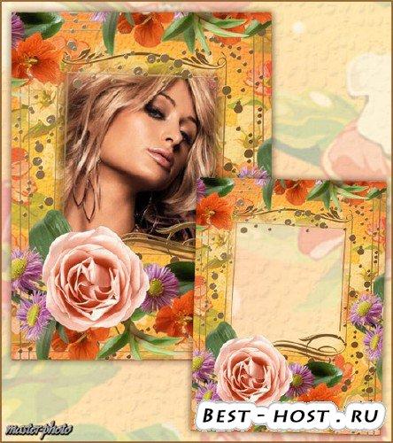 Рамка для фотошопа – Мой цветочный рай