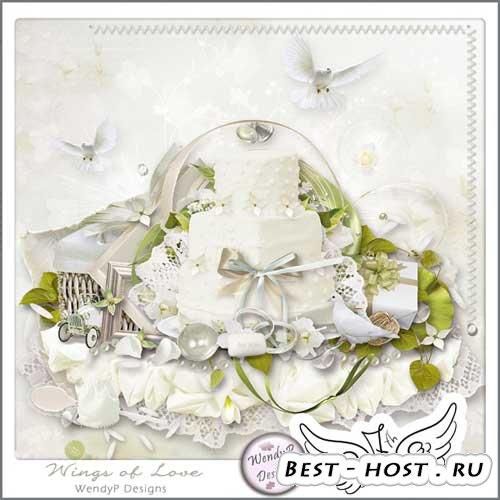 Свадебный скрап-набор - На крыльях любви