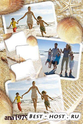 Рамка для фотошопа - Море-море