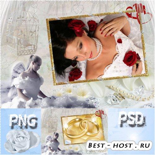 Фоторамка свадебная   - Грустная невеста