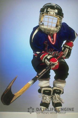 PSD исходник - Маленький хоккеист!