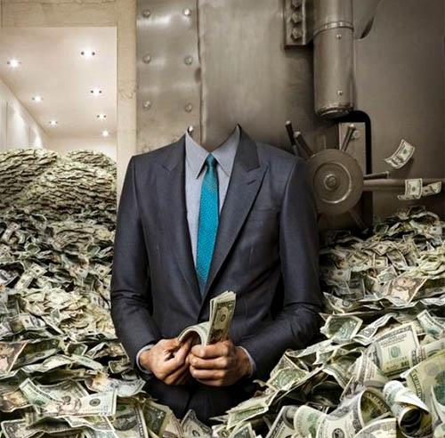 Мужской шаблон - купаться в деньгах