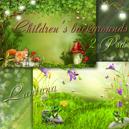 Детские фоны - Лето, сказочное лето, от чудес кружится голова