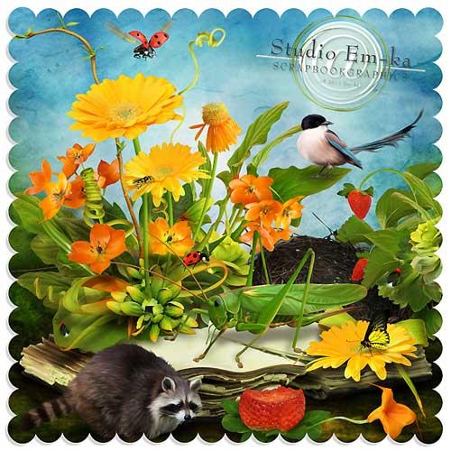 Летний детский скрап-набор - Радостное лето