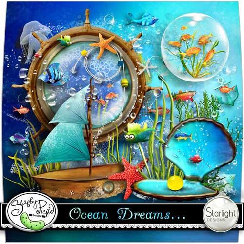 Морской скрап-набор - Мечты о море