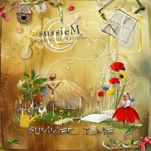 Солнечный летний скрап-набор - Летняя пора