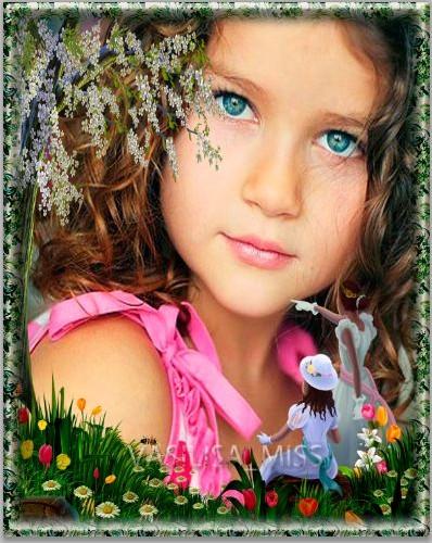 Фоторамка - Цветочная полянка