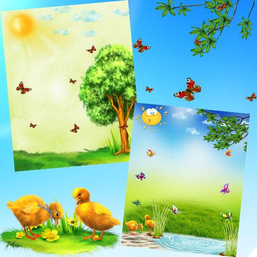 Летние детские фоны