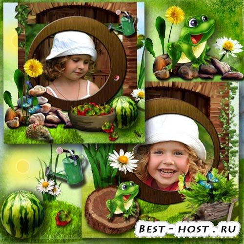 Две детские рамочки для фото - Кончается лето