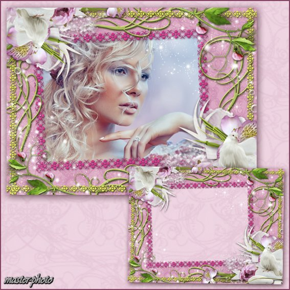 Цветочная рамка для фотошопа - Магия орхидеи №2