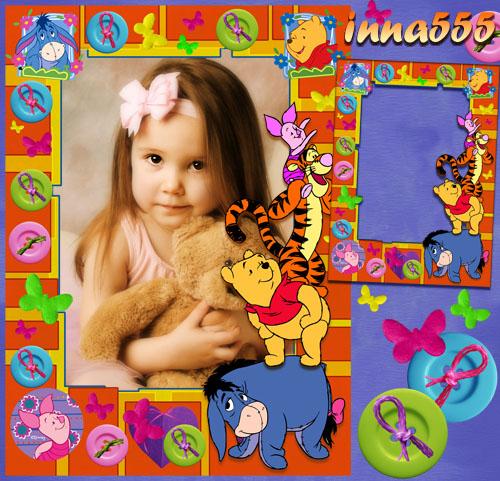 Детская рамка - Веселая лесенка Винни и друзья