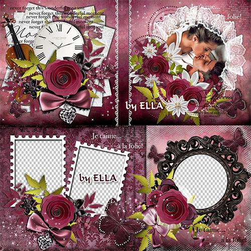 Романтическая фотокнига - Две любви,два сердца,две души