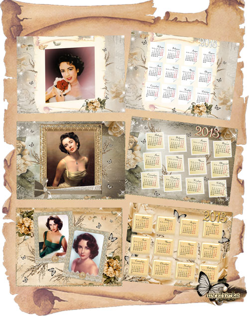 Рамки и календари на 2013 год - Неотразимый образ в стиле винтаж