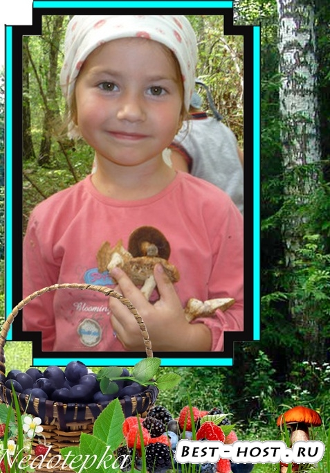 Детская рамочка - Дары леса
