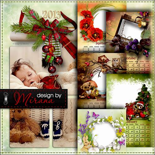 Календарь настенный перекидной на 2013 год с рамками для фото - Странички н ...