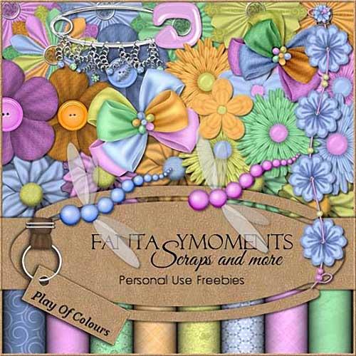 Скрап-набор для фотошопа - Разноцветие