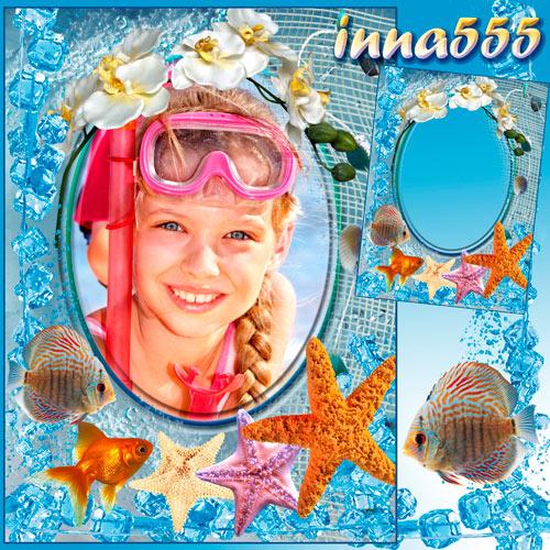 Морская рамка - Рыбка золотая, сделай так, чтобы лето не кончалось