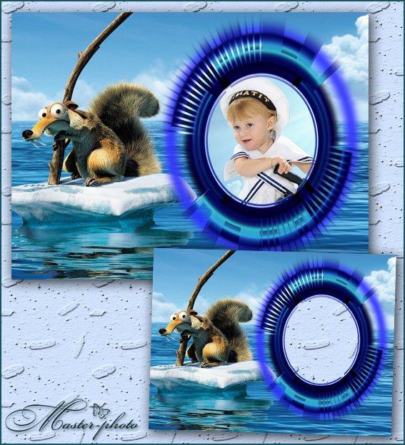 Детская фоторамка - По морям по океанам