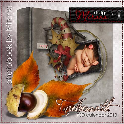 Фотокнига - календарь на 2013 год