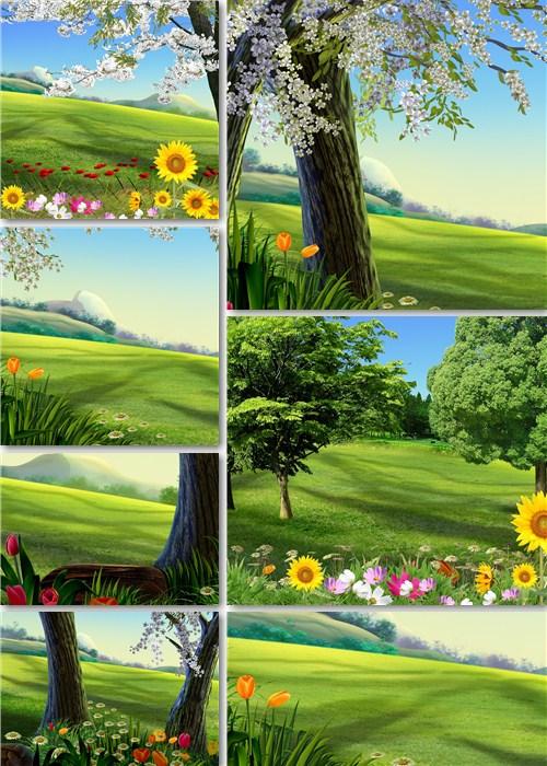 Летние фоны - Луговые поляны
