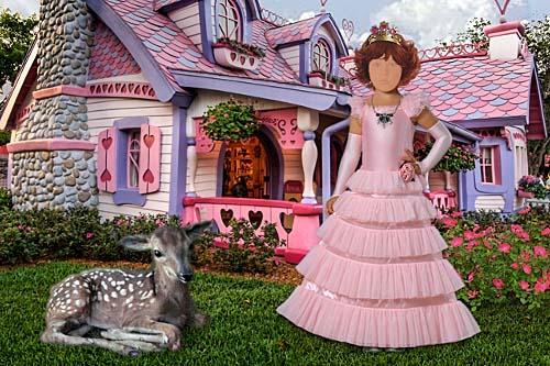 Детский шаблон для фотошопа - Девочка из сказки