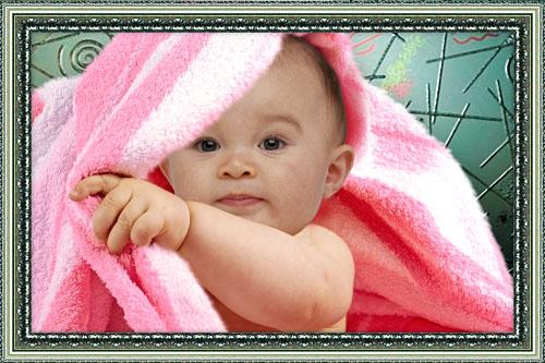 Детский шаблон для фотошопа - С лёгким паром