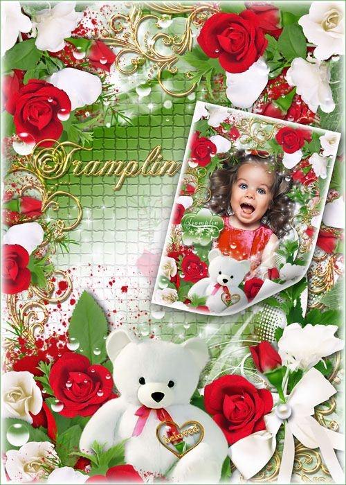 Красивая Рамка для фото с розами – Первозданный ангельский исток