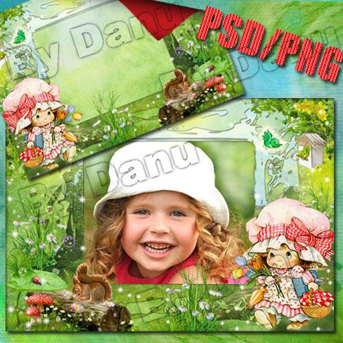 Детская рамка для фото - К бабуле с пирожками
