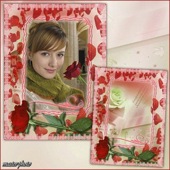 Рамка для фотошопа - Ты пришла из мира роз