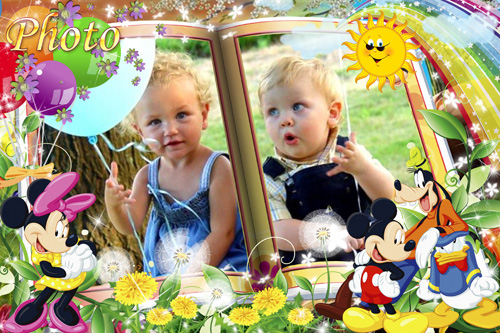 Детская рамка для фото  - Микки Маус и его друзья