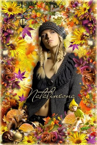 Осенняя рамочка для фото  – Осень золотая красками играет, все преображает  ...