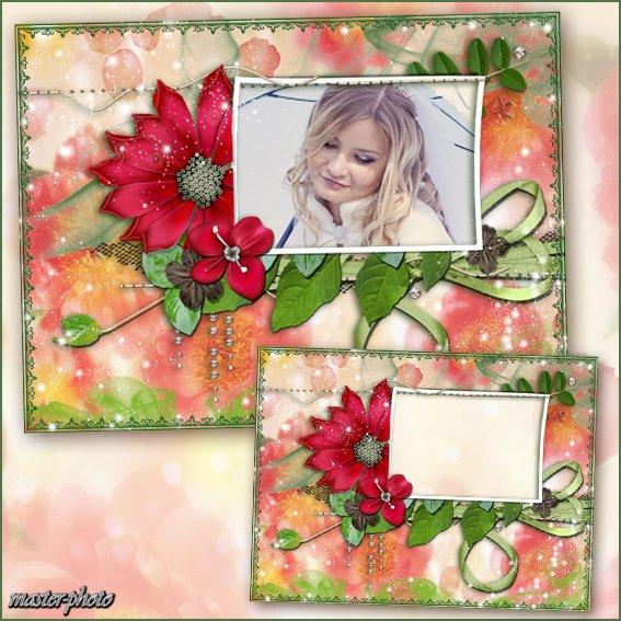 Цветочная рамка для фотошопа - Райский цветок