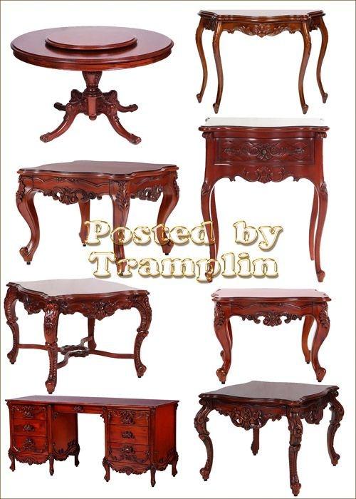 Клипарт – деревянные резные столы