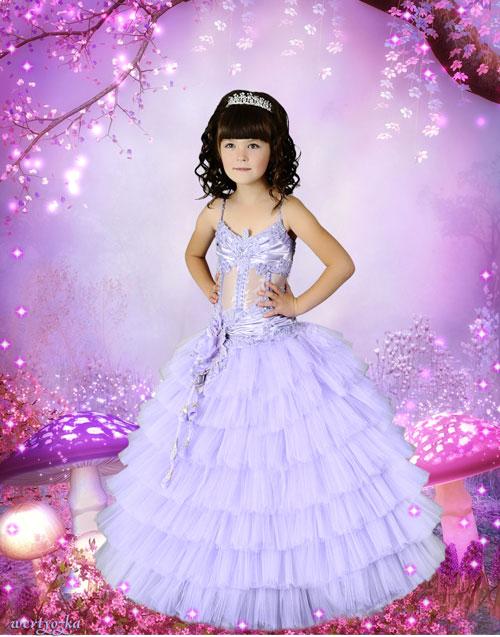 Детский шаблон для девочки  - Волшебные грибочки