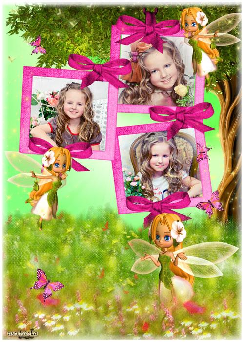 Детская рамка - Сказочные маленькие феи