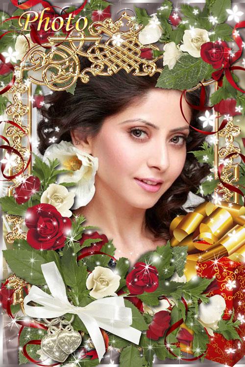 Поздравительная рамка для фото - С днем рожденья, прекрасная фея