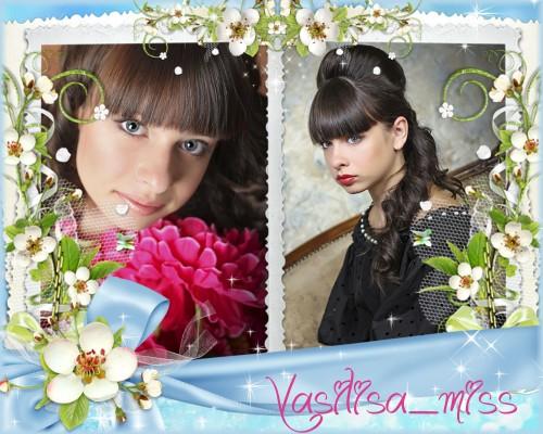 Романтическая рамочка для фотошопа  украшенная нежными цветами и романтичек ...