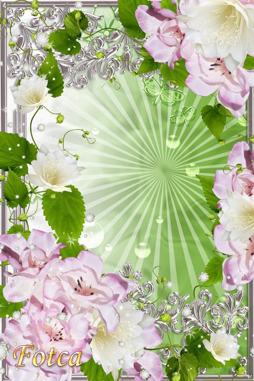 Цветочная рамка для фото - Природы искренний подарок